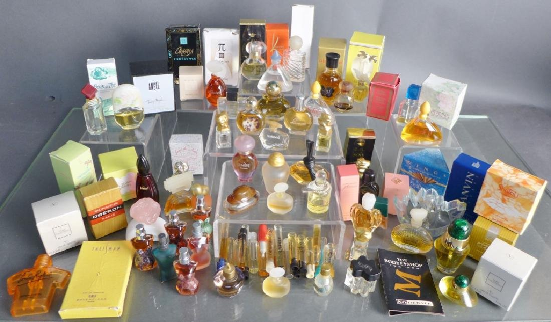 Collection of Miniature Cologne & Perfume Bottles