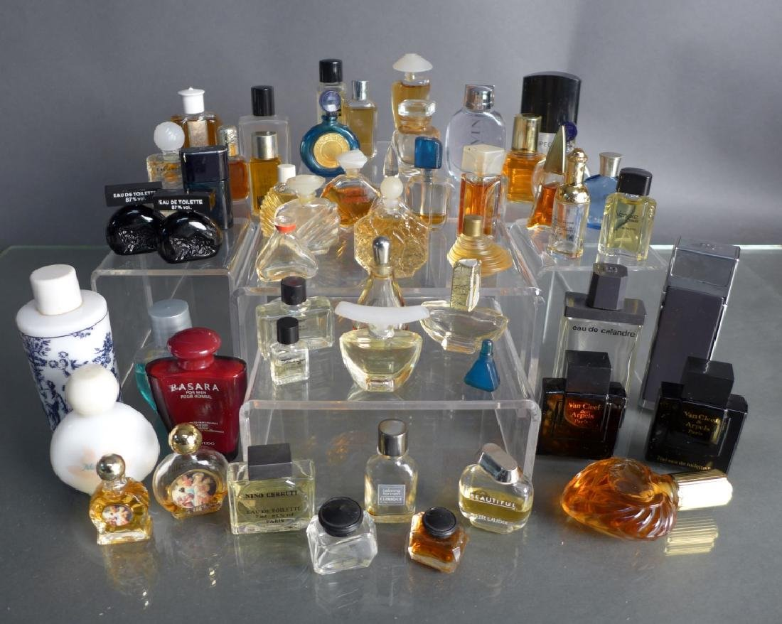 Collection of Miniature Perfume & Cologne Bottles