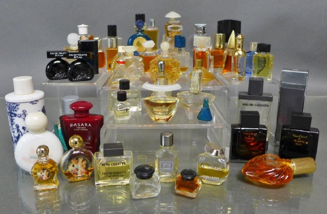 Collection of Miniature Perfume & Cologne Bottles - 9