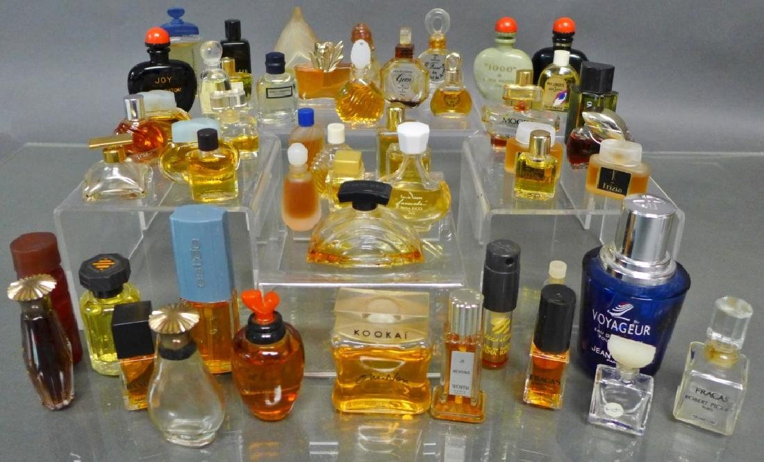 Miniature Perfume & Cologne Bottle Collection - 10