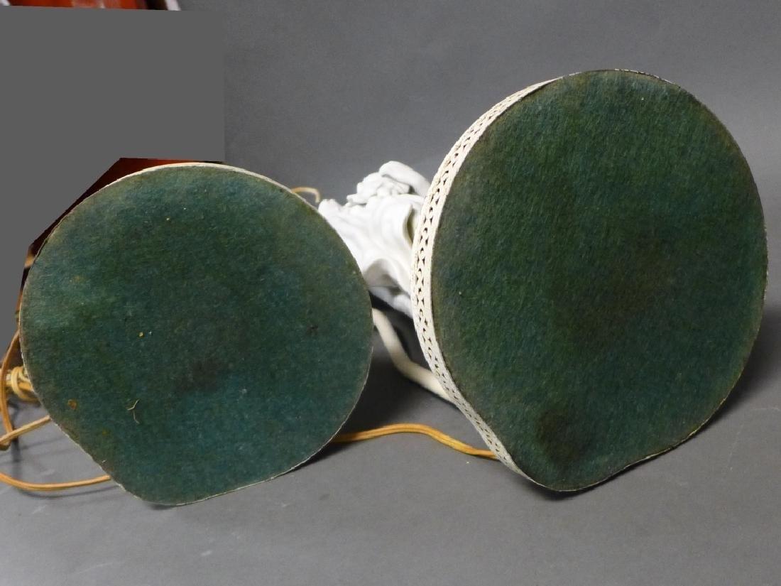 Pair of Parian Bisque Figural Lamps - 9