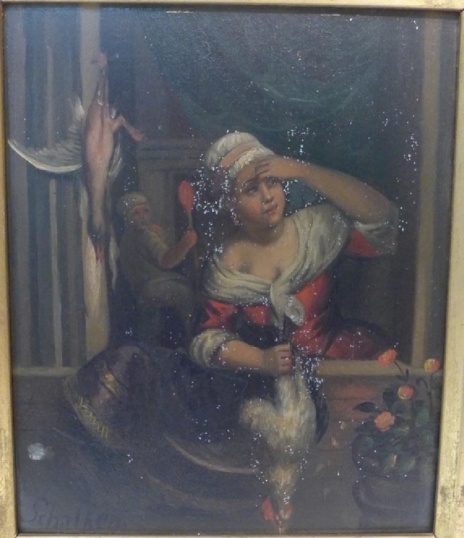 19th Century Figural Oil Paintings on Tin - 3