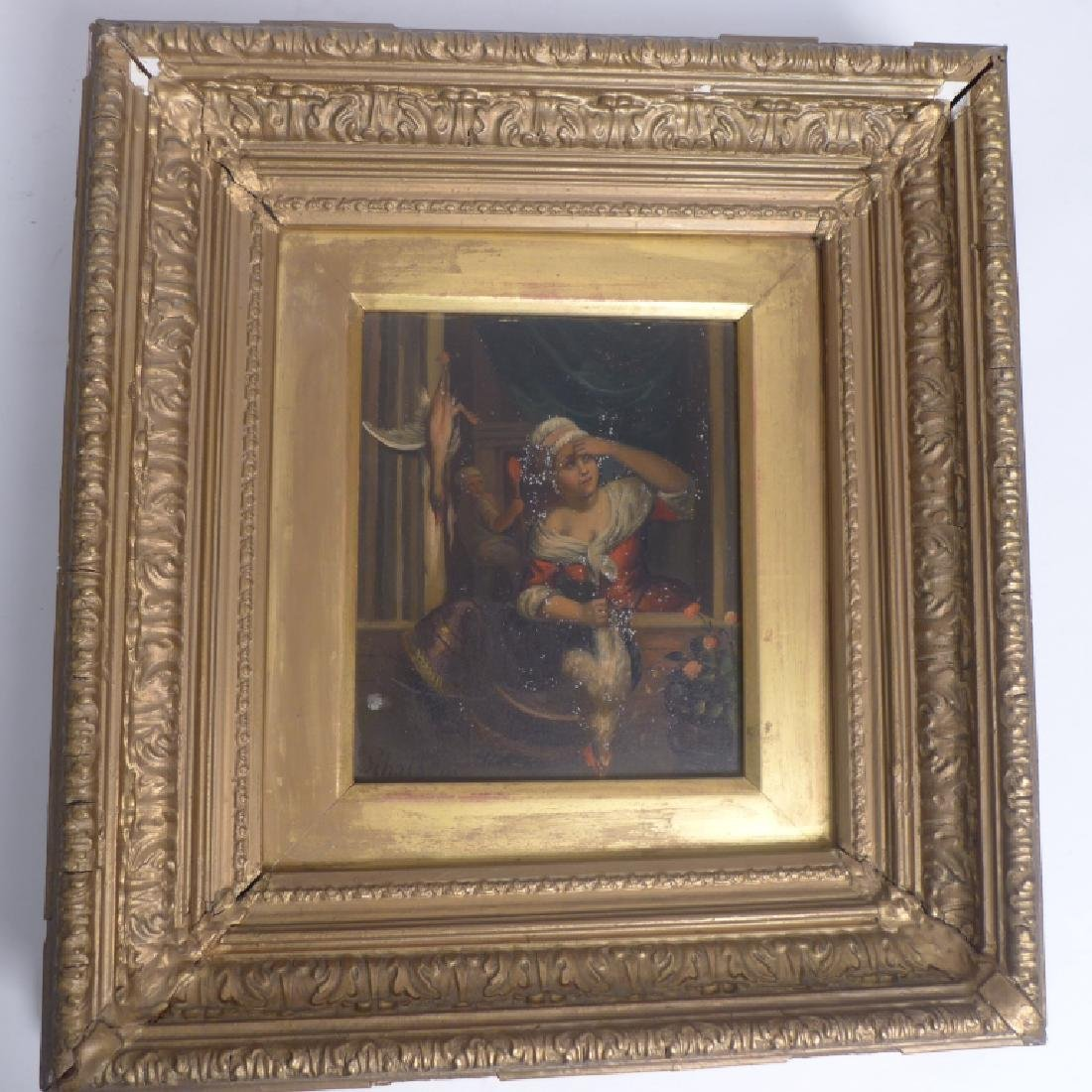 19th Century Figural Oil Paintings on Tin - 5