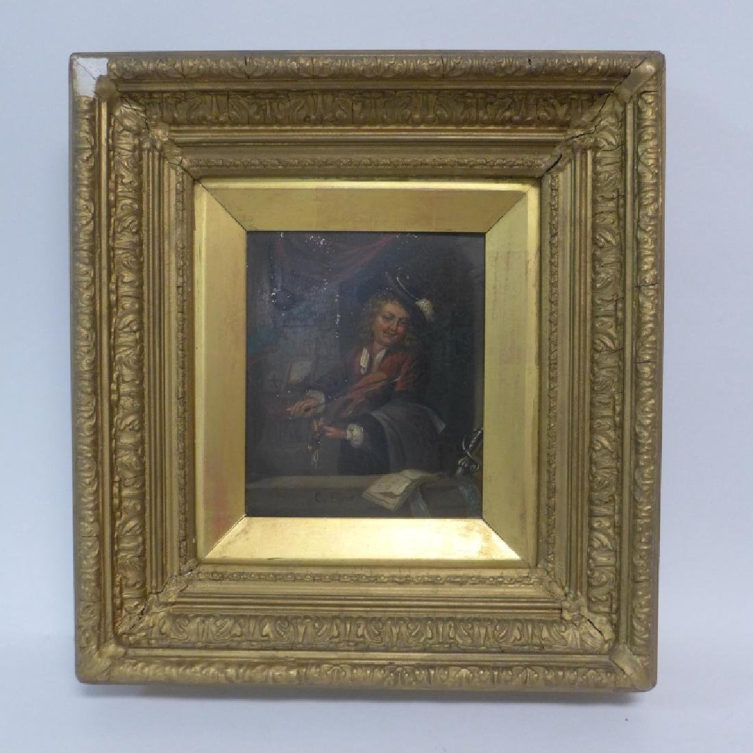 19th Century Figural Oil Paintings on Tin - 7