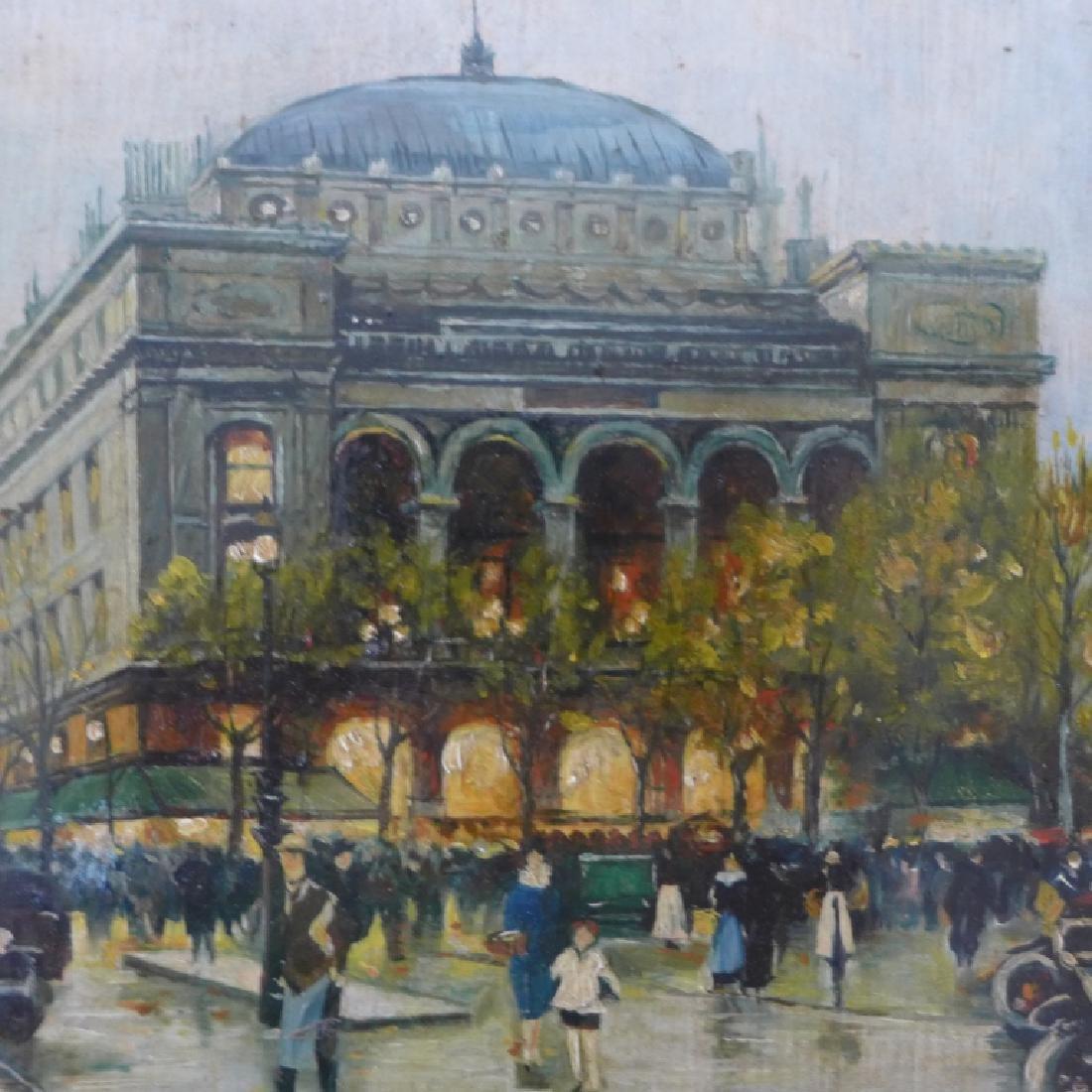 Pair of Gilt Framed Parisian Street Scenes O/B - 10