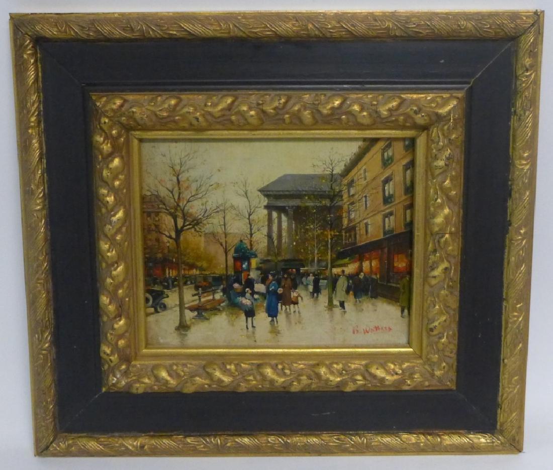 Pair of Gilt Framed Parisian Street Scenes O/B - 3