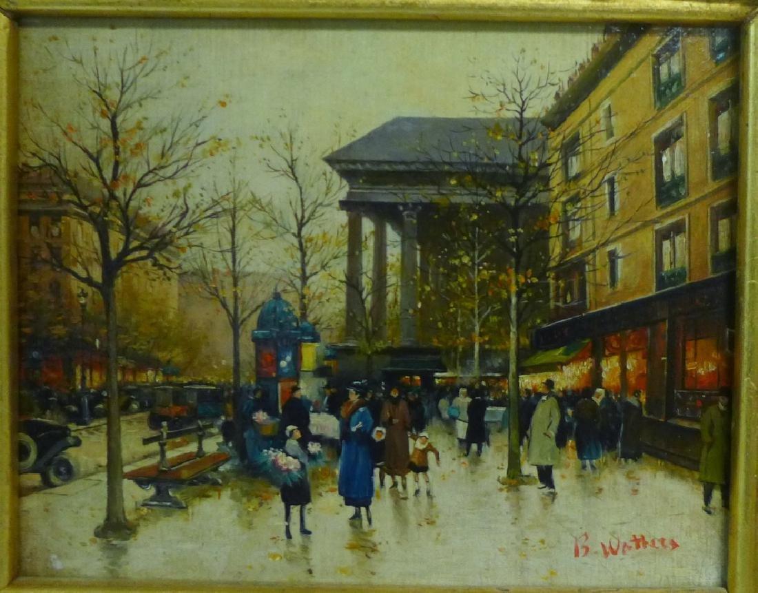 Pair of Gilt Framed Parisian Street Scenes O/B - 4