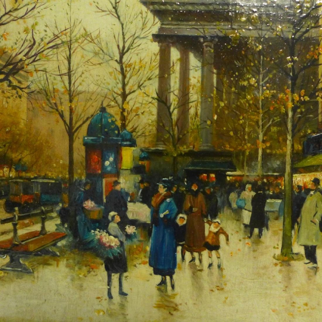 Pair of Gilt Framed Parisian Street Scenes O/B - 6