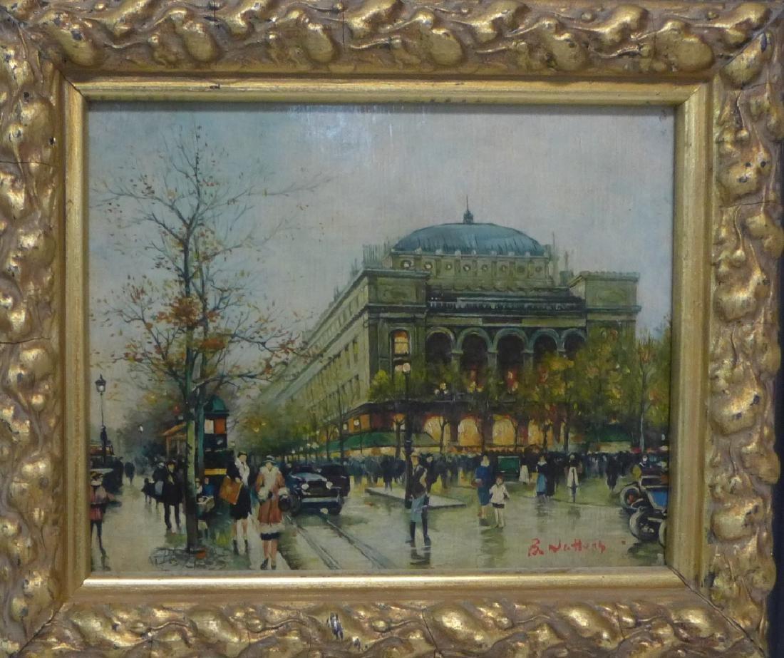 Pair of Gilt Framed Parisian Street Scenes O/B - 8