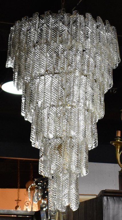 Monumental Tiered Glass Chandelier - 2