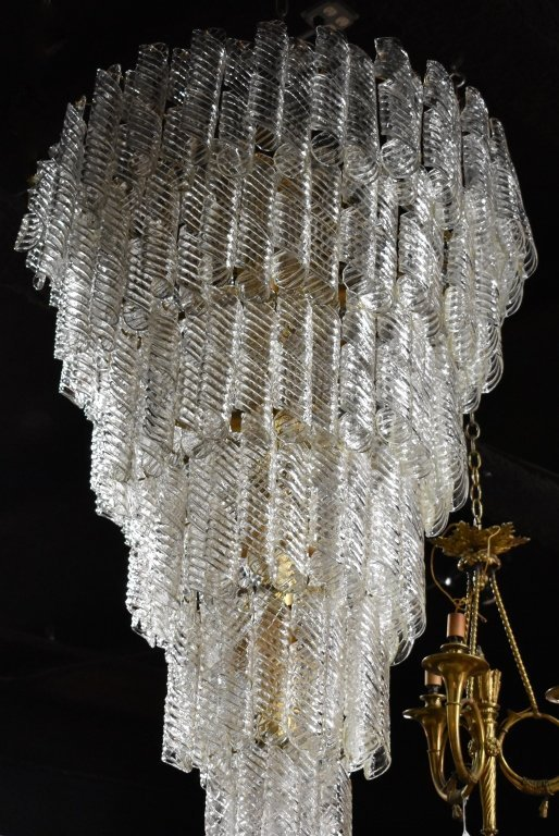 Monumental Tiered Glass Chandelier - 3