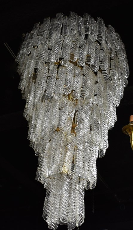 Monumental Tiered Glass Chandelier - 5