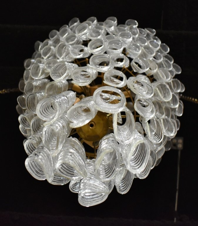 Monumental Tiered Glass Chandelier - 6
