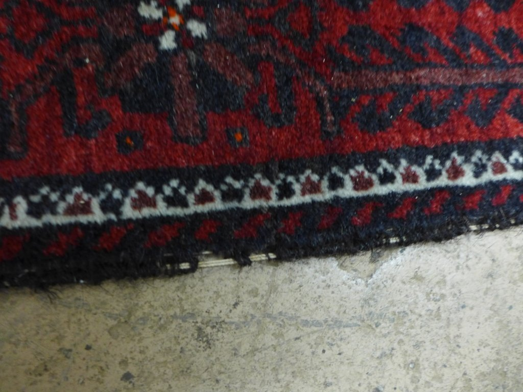 Deep Red Persian Balouch Rug - 10