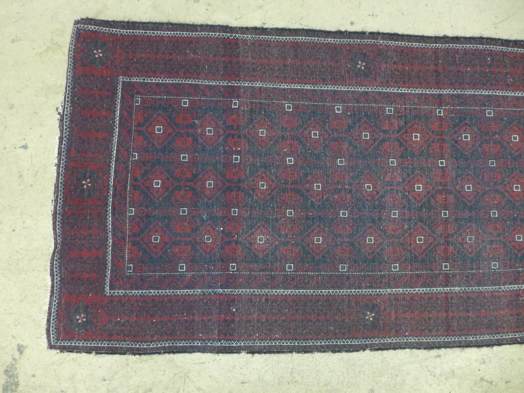 Deep Red Persian Balouch Rug - 6