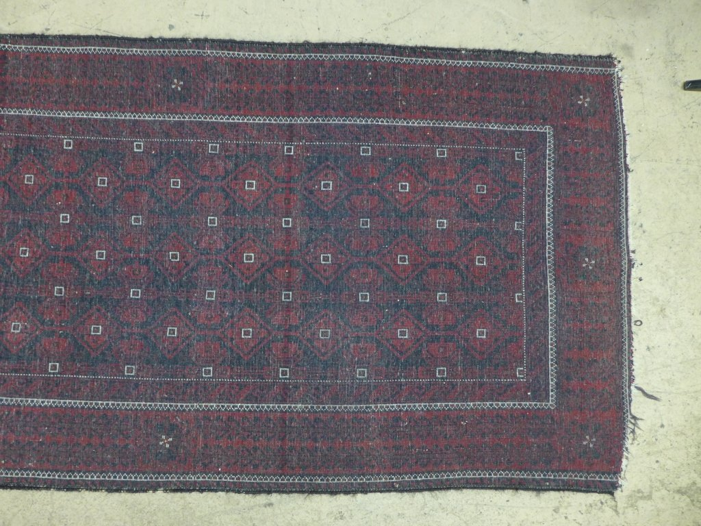 Deep Red Persian Balouch Rug - 7