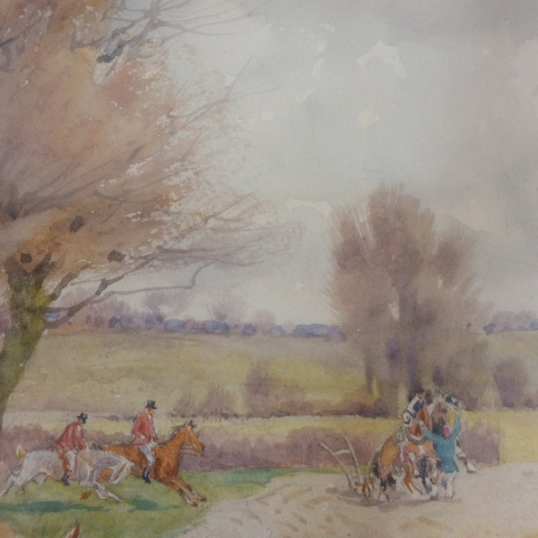 Hunting Scene with Dogs - 2