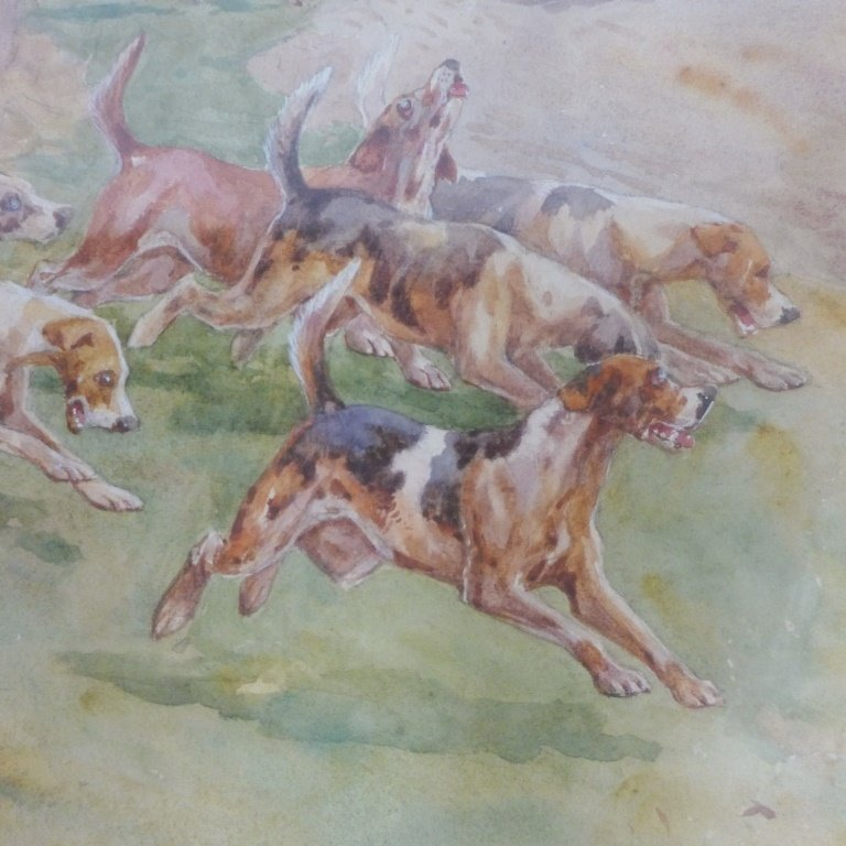 Hunting Scene with Dogs - 3
