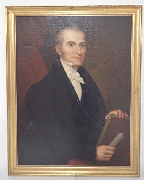 Unsigned Portrait Oil Painting
