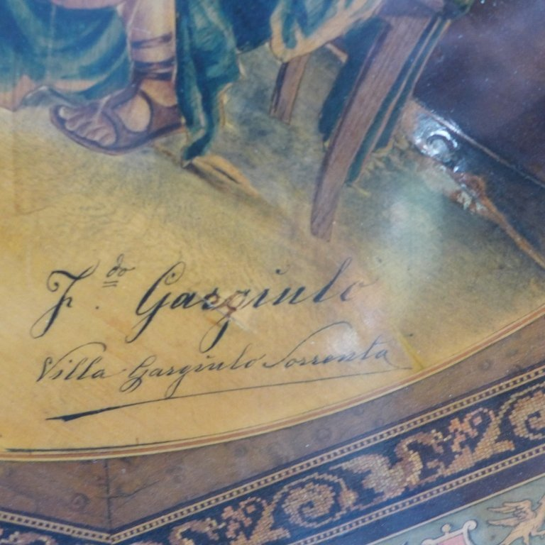 Signed Italian Inlaid & Painted Centre Table - 3