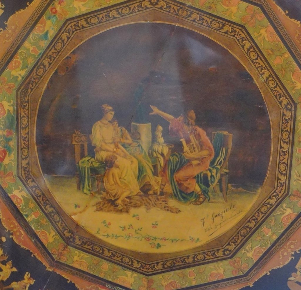 Signed Italian Inlaid & Painted Centre Table - 9