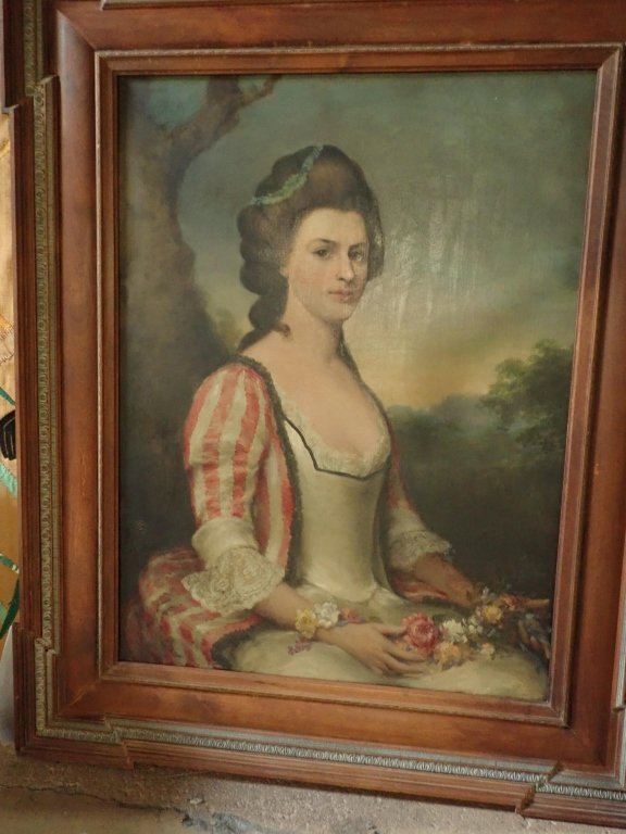 Antique Female Portrait O/C E. S. Hamilton - 10