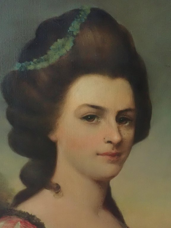 Antique Female Portrait O/C E. S. Hamilton - 3