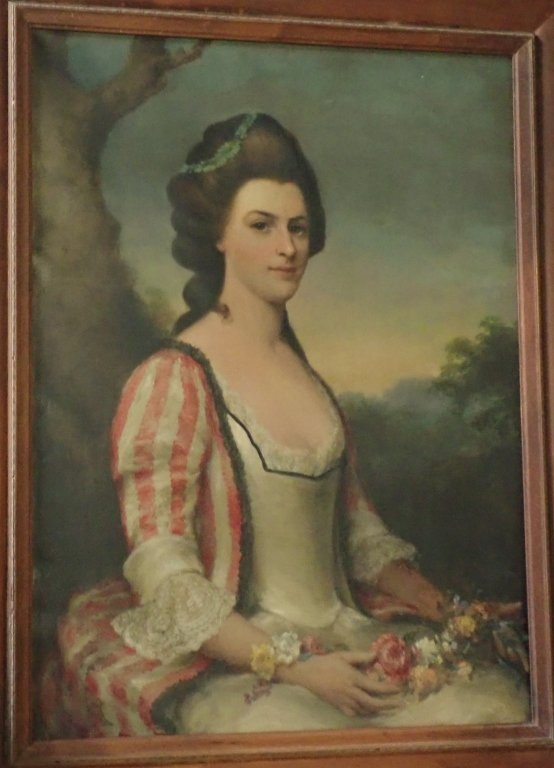 Antique Female Portrait O/C E. S. Hamilton - 4