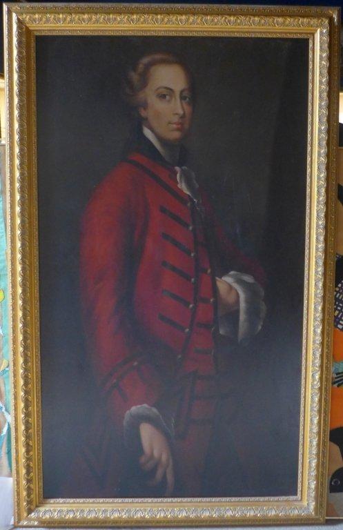 Large Signed Oil Painting Portrait - 10