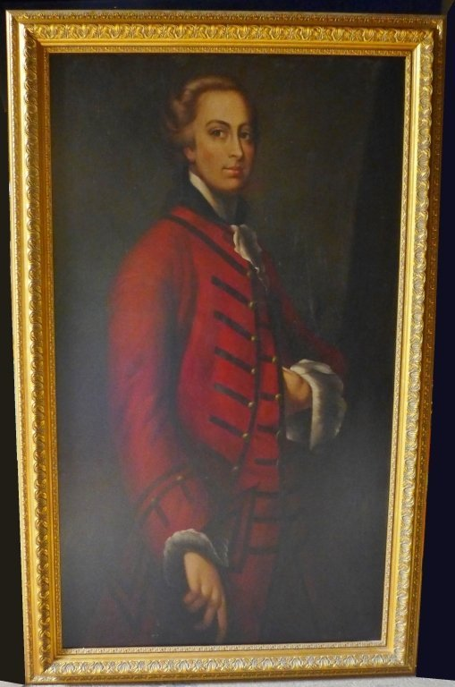 Large Signed Oil Painting Portrait
