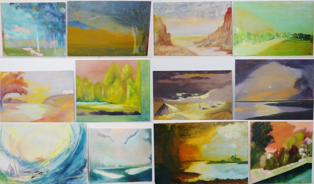Abstract and Landscape Paintings, Artist Signed