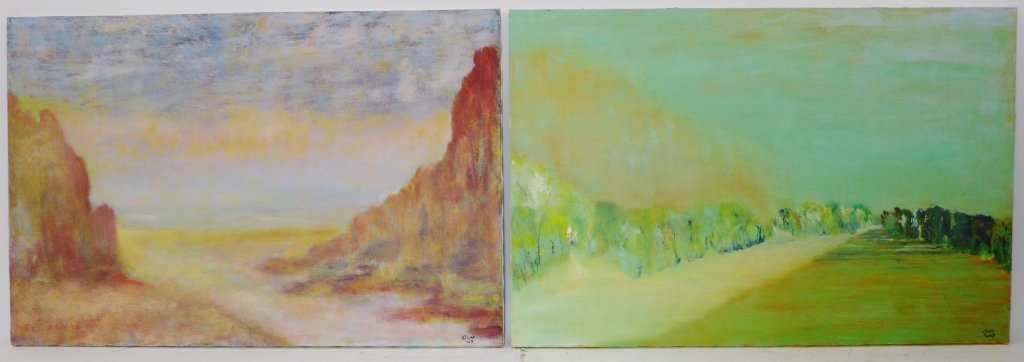 Abstract and Landscape Paintings, Artist Signed - 3