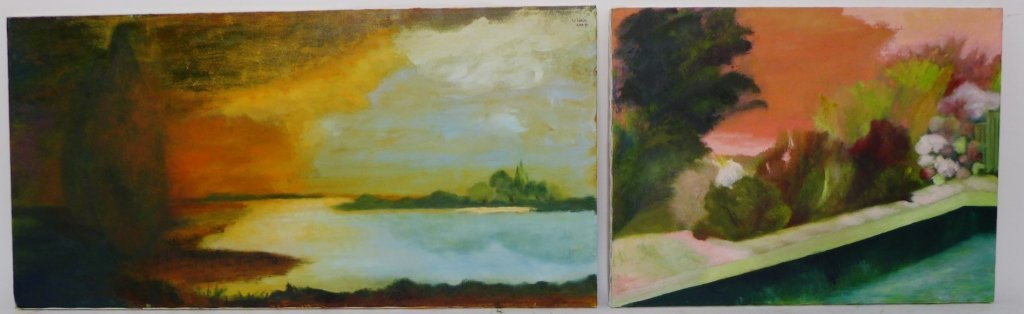 Abstract and Landscape Paintings, Artist Signed - 5