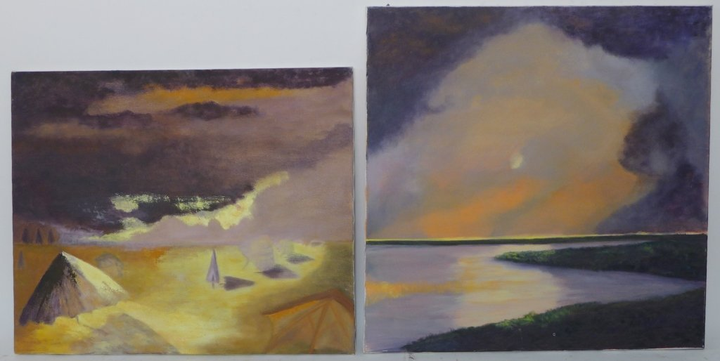 Abstract and Landscape Paintings, Artist Signed - 6