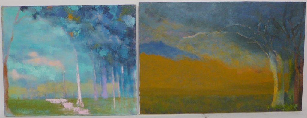 Abstract and Landscape Paintings, Artist Signed - 8