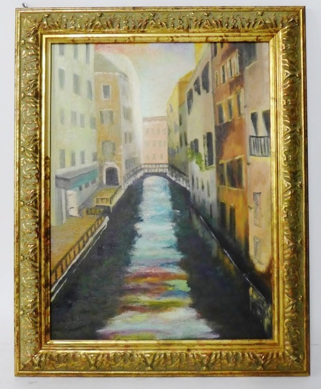 Canal and Alley Way Paintings, Artist Signed - 3