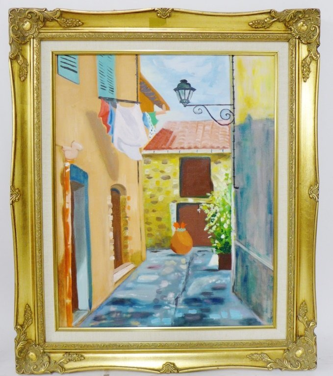 Canal and Alley Way Paintings, Artist Signed - 4