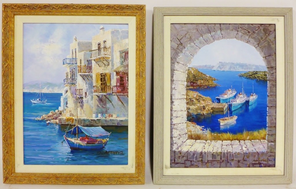 Pair of Seascape Paintings, artist signed