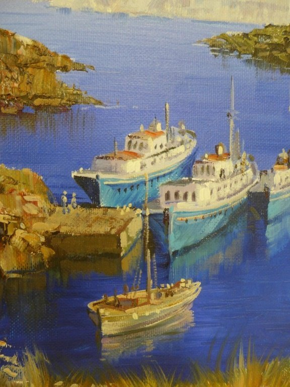 Pair of Seascape Paintings, artist signed - 6