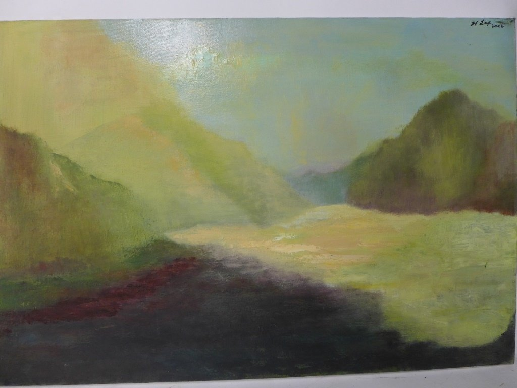 Mix of Landscape/Abstract Paintings, Artist Signed - 10