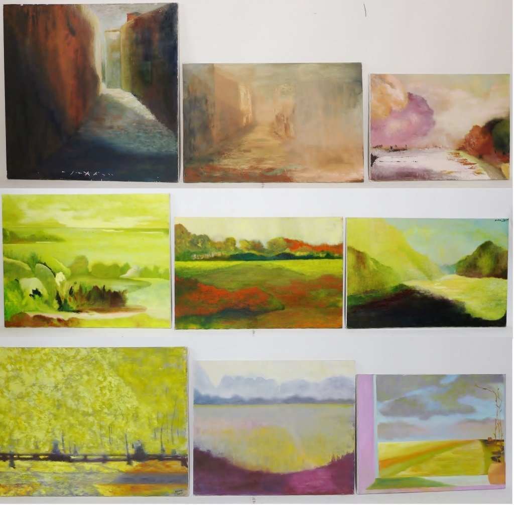 Mix of Landscape/Abstract Paintings, Artist Signed