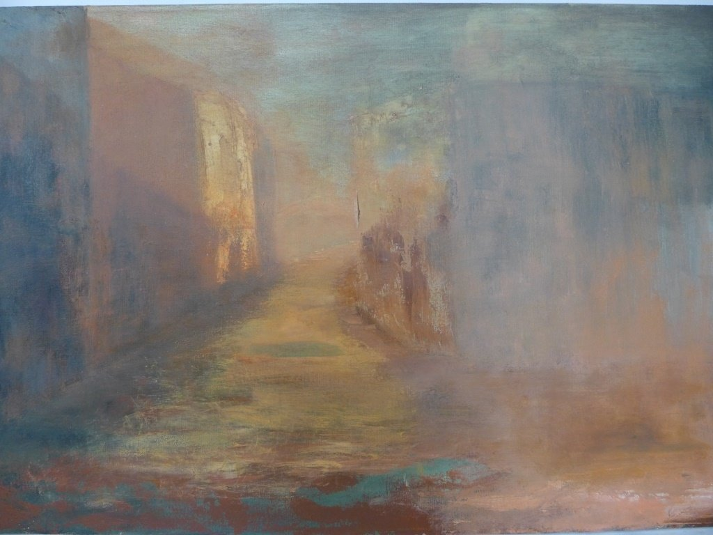 Mix of Landscape/Abstract Paintings, Artist Signed - 2