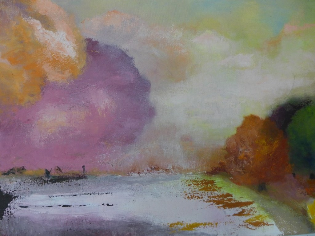 Mix of Landscape/Abstract Paintings, Artist Signed - 3