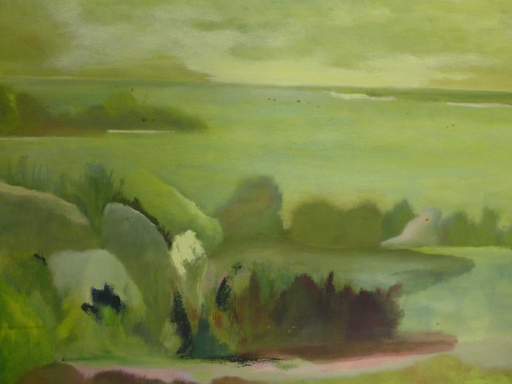 Mix of Landscape/Abstract Paintings, Artist Signed - 4