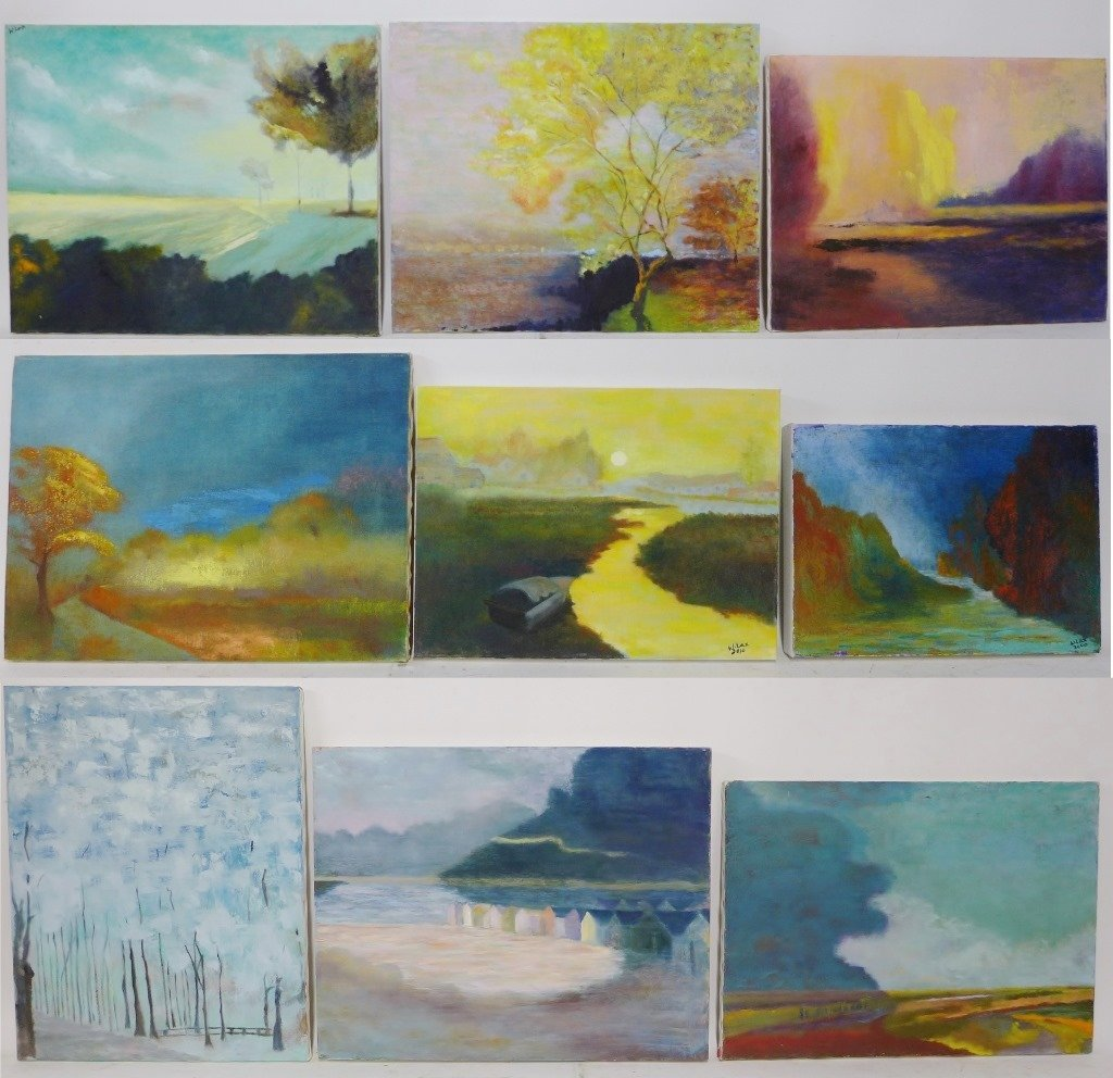 Exotic Bird/Landscape Paintings, Artist Signed