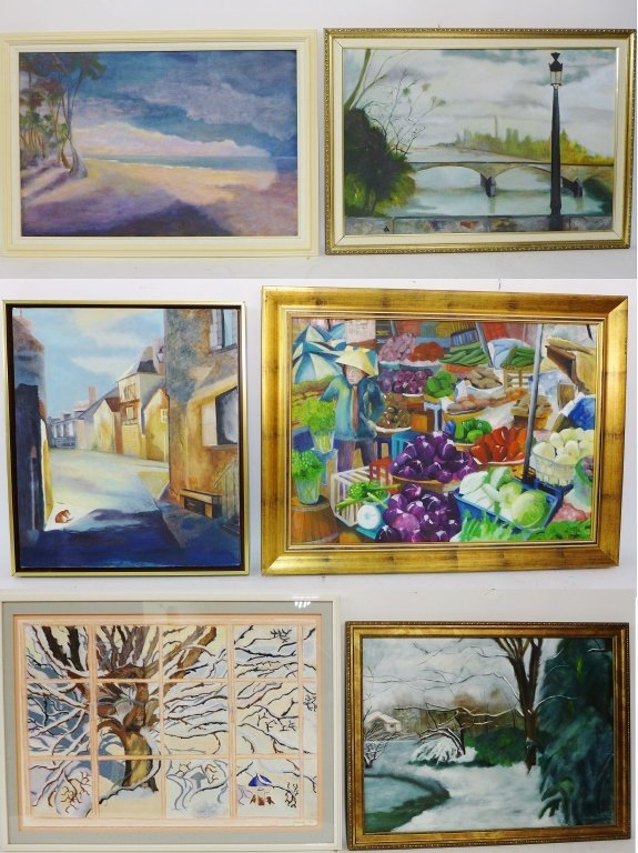 Artist signed eclectic mix of paintings
