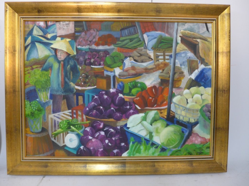 Artist signed eclectic mix of paintings - 3