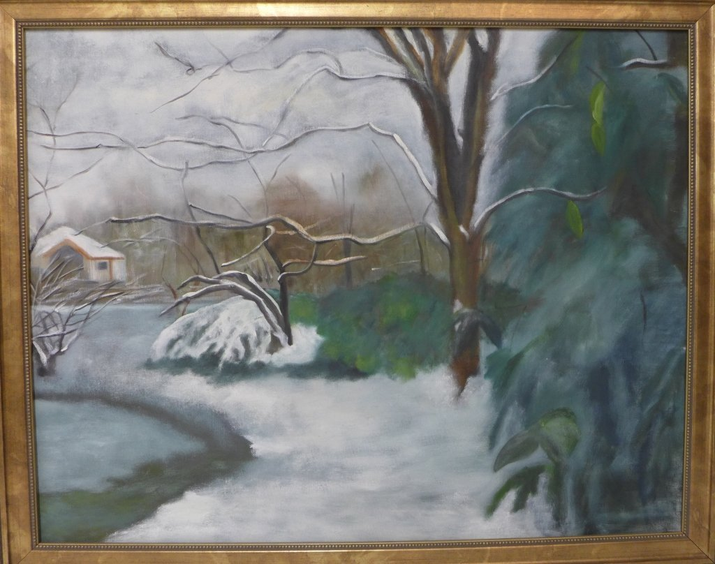 Artist signed eclectic mix of paintings - 5