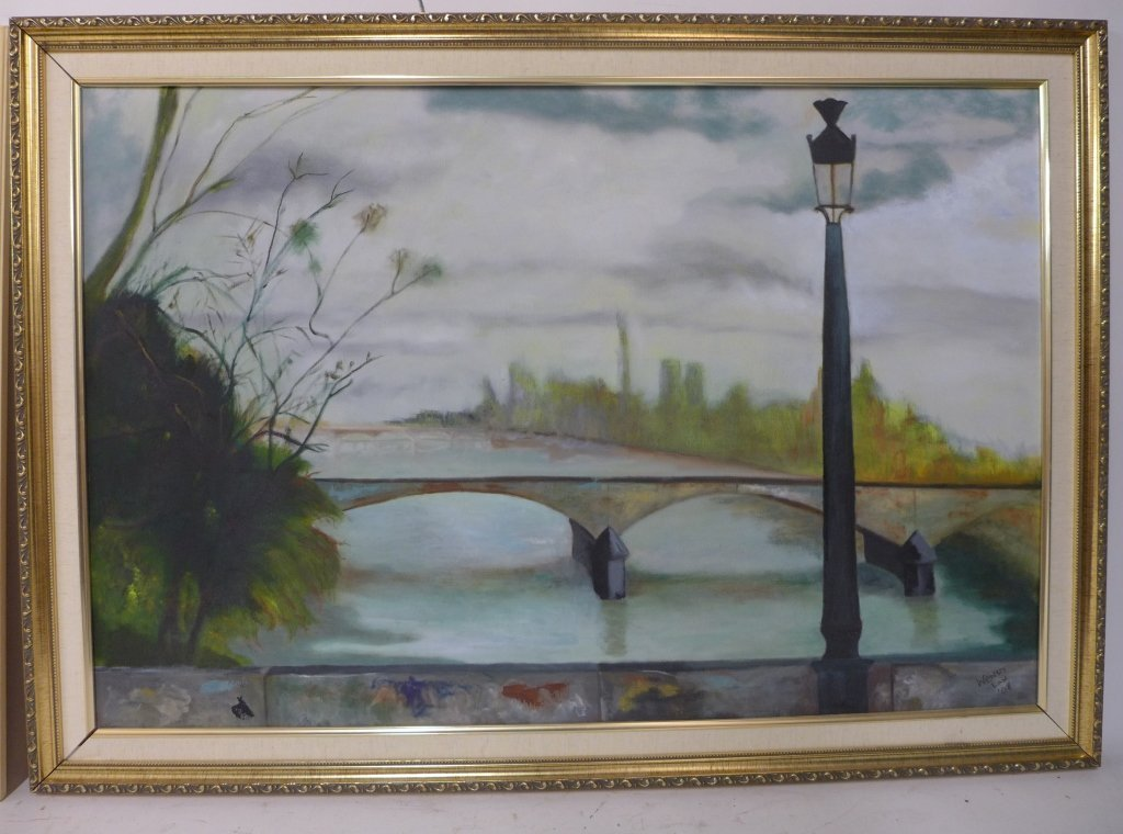 Artist signed eclectic mix of paintings - 7