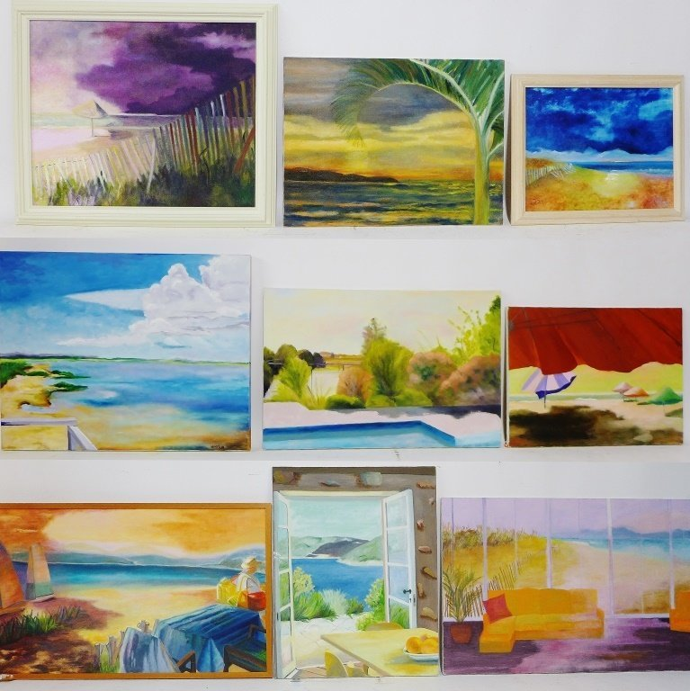Beach Painting Collection, Artist Signed